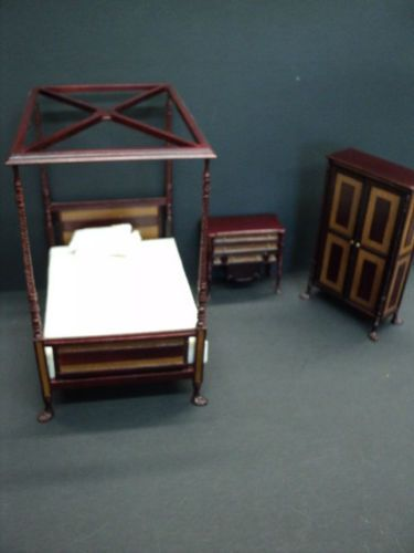 DOLLHOUSE-BESPAQ-RUSKIN-BEDROOM-SET-3-PC-WITH-FREE-DRESSER-TOP