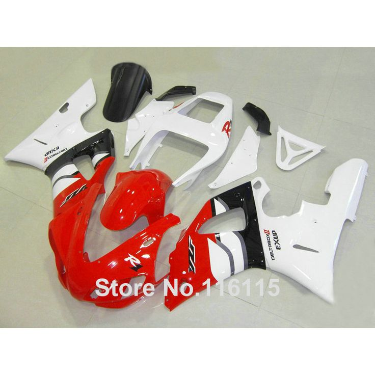 Injection molding full fairing kit fit for YAMAHA R1 1998 1999 YZF R1 white red black ABS fairings set YZF-R1 98 99 YD43 #Affiliate