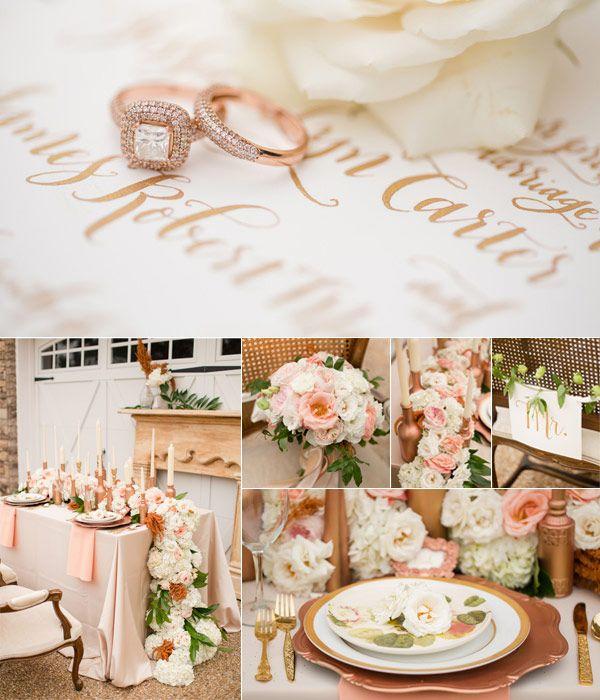 10 best wedding colour ideas images on pinterest weddings wedding rose gold wedding theme colour ideas junglespirit Choice Image