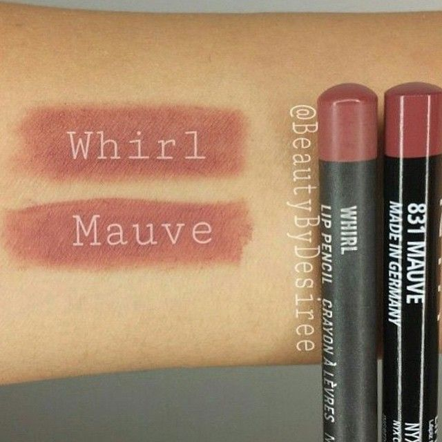 lip for less using NYX Mauve lip pencil ($3.50) instead of MAC Whirl ($16). Swatched by @beautybydesiree!""