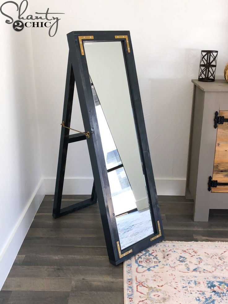 Diy Easel Mirror Diy Easel Diy Mirror Diy Hanging Shelves