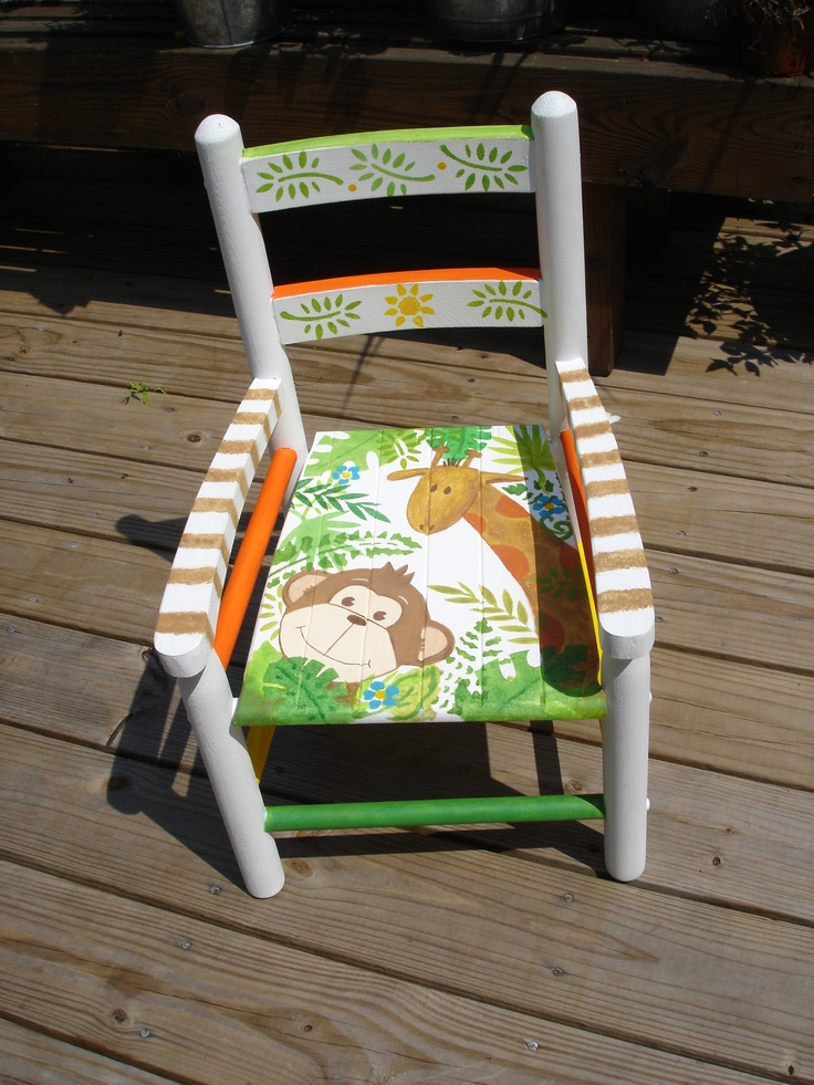 Hand Painted Childu0027s Chair