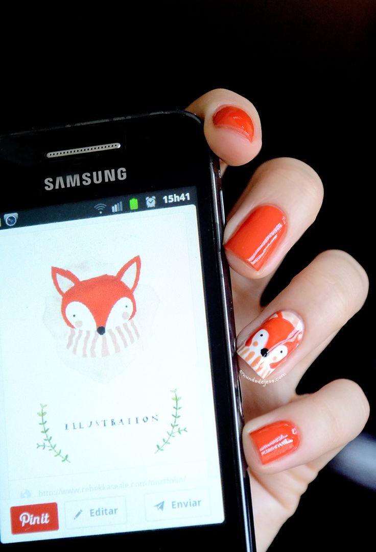 Foto tutorial: Fox nail art