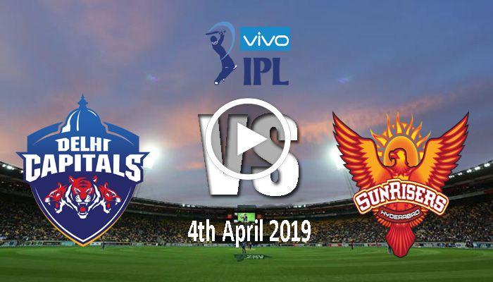 Delhi Capitals Vs Sunrisers Hyderabad Ipl 16th Match Live Streaming Cricket In India Sports Live Cricket Ipl