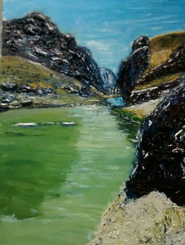 Journey through Afghanistan by Momen. A1 impasto oil painting.