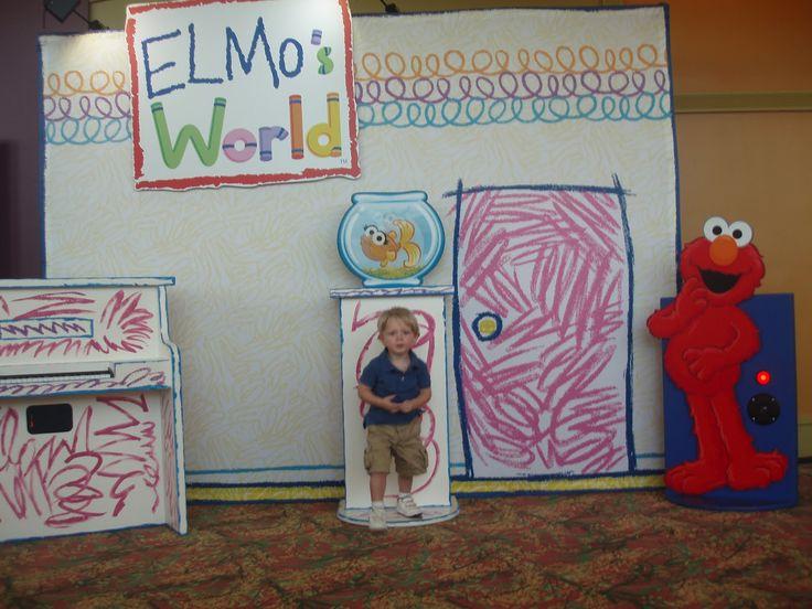 elmo's world cardboard backdrop Google Search Elmo's