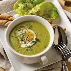asparagus soup with poached egg. I want some when asparagus is for ...