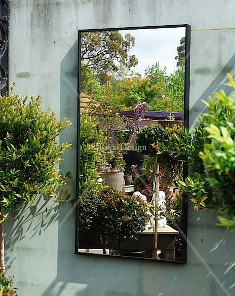 Wall Decor Using Mirrors : Using mirrors outdoors home outdoor wall