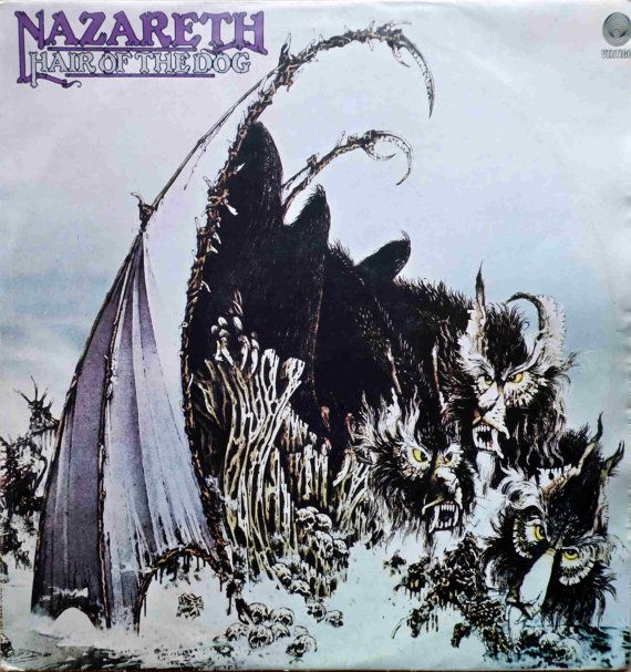 NAZARETH Hair Of The Dog 1975 Portugal Issue Very Rare Lp 33 rpm Album Vinyl Record Classic Rock Prog 70s 6370405 Free s&h