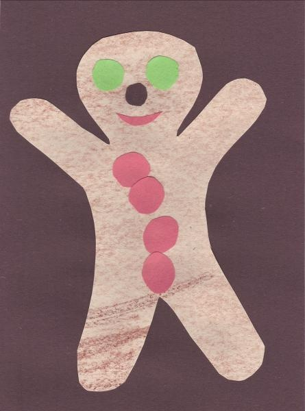 paper Gingerbread man: Easy Fairy Tale Craft.
