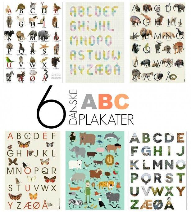 Danske ABC plakater « voksewerk | DESIGNED FOR KIDS | Pinterest | Dansk, Plakater and Børneværelse