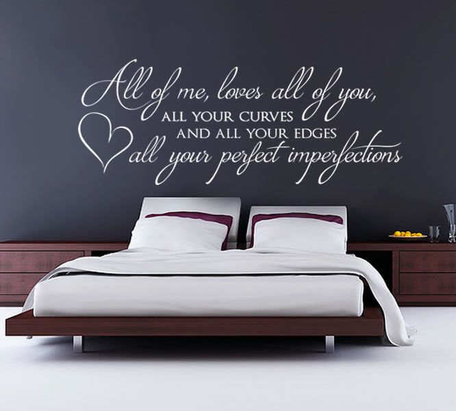 all of me loves all of you john legend by wallchick on on wall stickers for bedroom id=28593