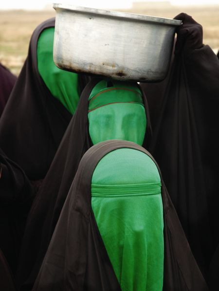 soulhospital:  Green Women No. 3 - Babak Kazemi, 2004. Photography - Chromogenic print (C-print), 27.55 x 39.37cm.