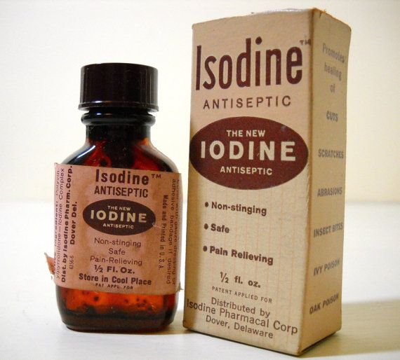 Brown Glass Medicine Bottle Isodine The New Iodine by FoundForYou, $8.00