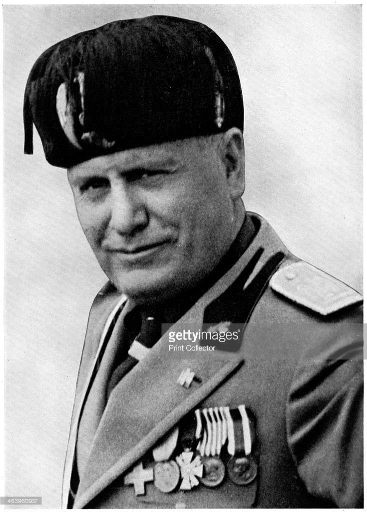 Benito Mussolini, Italian fascist dictator, 20th century.