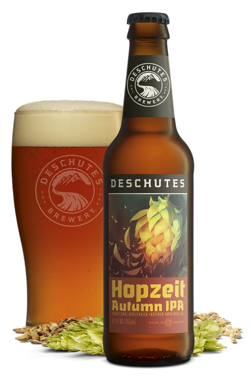 A trio of fall releases from Deschutes, starting now! Deschutes Brewery Hopzeit Autumn IPA – Deschutes' newest seasonal is fit for fall, an IPA inspired by German Märzenbier, made with …
