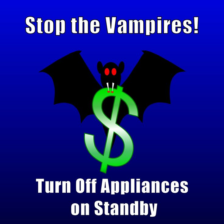 Vampire Power - Pull the Plug and Cut Down on Your Electricity Consumption. Did you know that some appliances, e.g. TVs, use up to 30% of the energy while on standby that they use while fully turned on? #HomeAppliances #SavingEnergy #SavingElectricity
