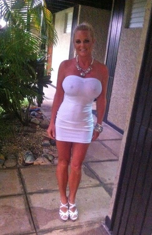 lexeigh in white tube dress