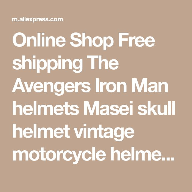 Online Shop Free shipping The Avengers Iron Man helmets Masei skull helmet vintage motorcycle helmets capacete moto simpson helmet bettern | Aliexpress Mobile