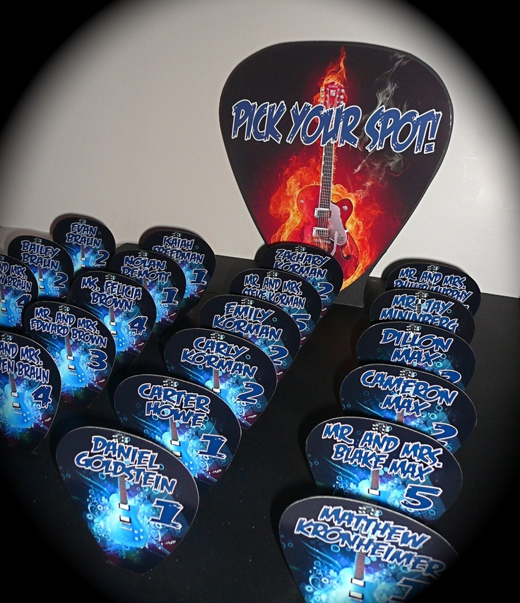 46 best music and rock and roll theme bar and bat mitzvah - Rock and roll theme party decorations ...