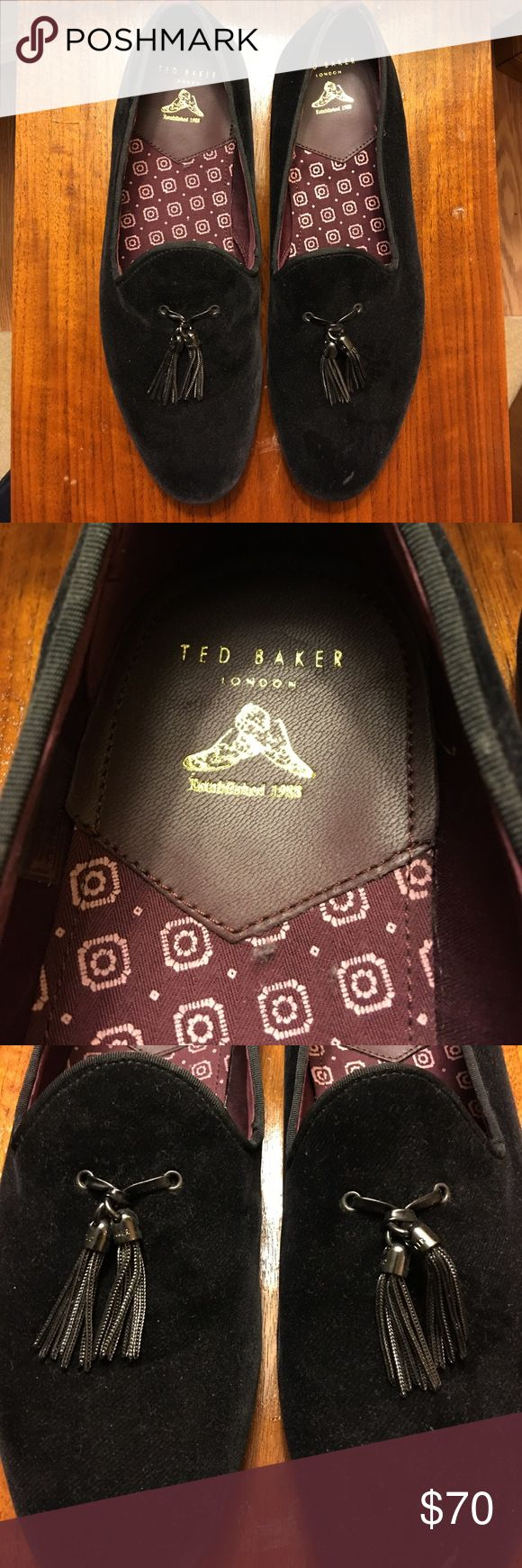 Never worn Ted Baker London velvet shoes /slippers Ted Baker London velvet shoes / slippers, Never worn Ted Baker London Shoes Loafers & Slip-Ons