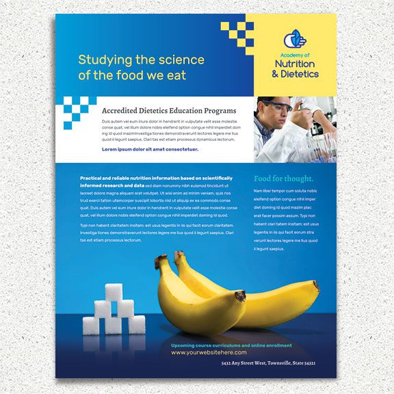 Flyer template design for a nutritionist \ dietician by - healthcare brochure
