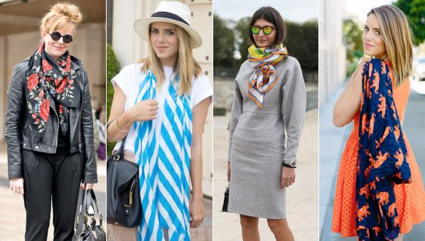 Spring Is Here Which Means It�s Time To Stock Up On Bright, Printed Scarves