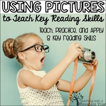 Teach and review reading skills using pictures AND teach students how to apply their skills to short reading passages! With these 40 printable pages, students will have the opportunity to observe a picture and make inferences, ask questions, make predictions, etc., practice a reading skill based on the picture, and apply the reading skill to a short passage.