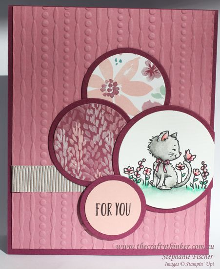Stampin Up, #thecraftythinker, Pretty Kitty, #crazycraftersbloghop