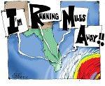 Cartoon by Deb Milbrath, IRMA  -- IRMA,natural disaster,hurricane season,weather,mother nature,florida,republican,cut funding,rick scott,global warming,climate change,money,tRUMP,storm,FEMA,extreme weather patterns,Atlantic,weater,flooding,winds,puerto Rico --