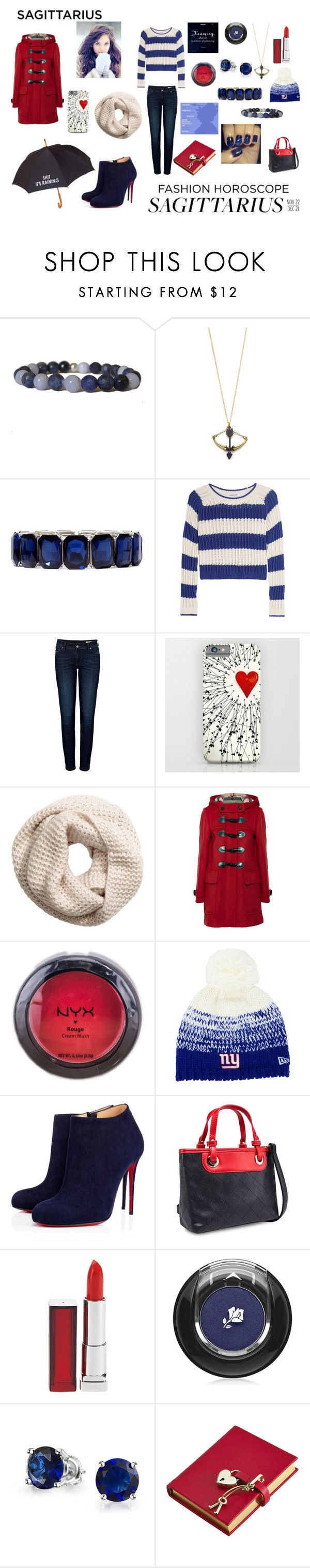 """""""Untitled #262"""" by nadiamay ❤ liked on Polyvore featuring Monserat De Lucca, Monet, Elizabeth and James, Anine Bing, H&M, Novelty, Burberry, NYX, New Era and Christian Louboutin"""