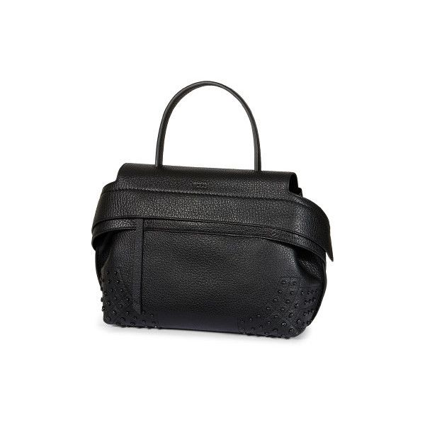 Tod's Small Wave Bag via Polyvore featuring bags, handbags, leather purses, snap purse, zipper purse, zipper bag и leather bags