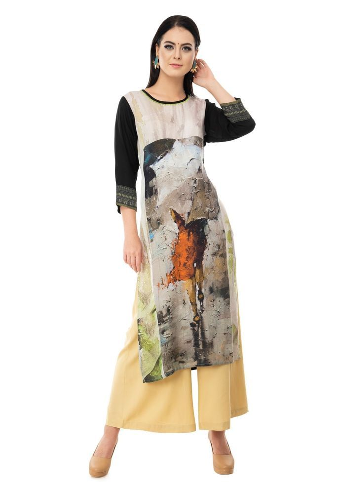 9b81418de1 Indian Bollywood Kurta Kurti Designer Women Ethnic Dress Top Tunic Pakistani  (eBay Link)