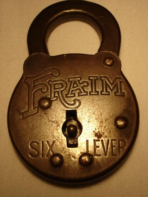 Antique Padlocks And Their Value Fraim Six Lever Antique