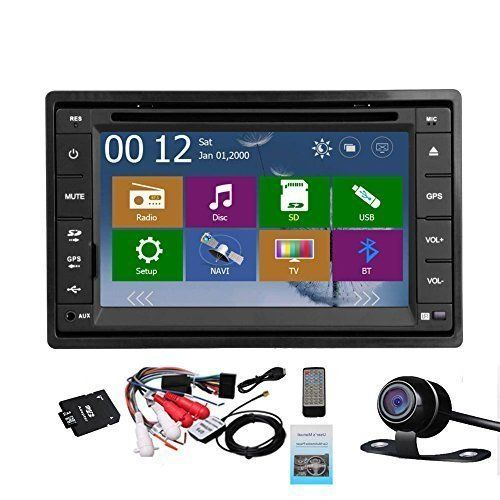 Special Offers - 2 Din Car Autoradio Headunit In Dash Stereo 6.2-inch LCD Touch Screen DVD CD Player MP3/MP4/USB/SD/AM/FM Radio Bluetooth Audio GPS Navigation Free GPS Map Waterproof Backup Camera - In stock & Free Shipping. You can save more money! Check It (September 28 2016 at 05:56PM) >> http://caraudiosysusa.net/2-din-car-autoradio-headunit-in-dash-stereo-6-2-inch-lcd-touch-screen-dvd-cd-player-mp3mp4usbsdamfm-radio-bluetooth-audio-gps-navigation-free-gps-map-waterproof-backup-camera/