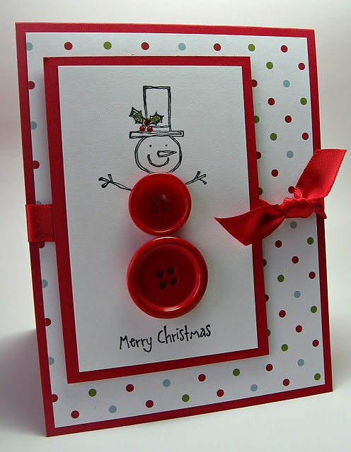 Button snowman stampin Up