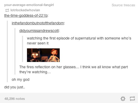 Supernatural Season One - Tumblr Post