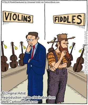 """The Difference Between Violinists and Fiddlers,"" by Guy & Rodd"