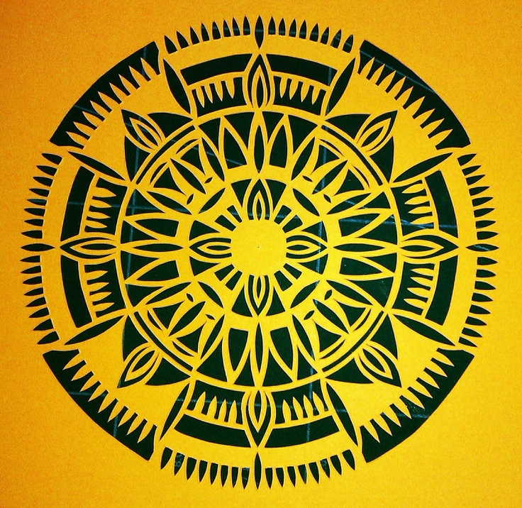 Yellow hand cut design, Clare Pentlow