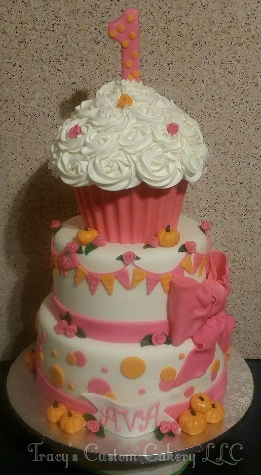 Pink & Pumpkins Cake