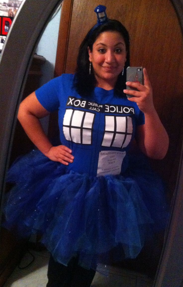 My TARDIS Halloween costume complete with tutu. Love Doctor Who and happy to show it on Halloween this year!