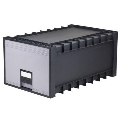 STOREX Plastic Archive Storage Box with Lid and Lock