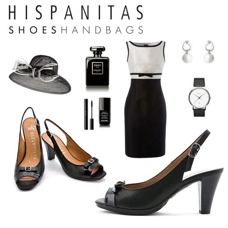 Black outfit elegant shoes Hispanitas