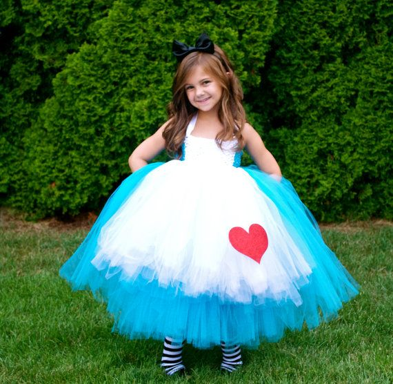 Alice in Wonderland Costume Tutu Dress by PoufCouture on Etsy, $94.95