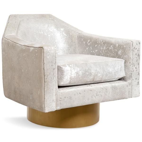 Marseille Occasional Chair In Cowhide Modern Occasional Chairs