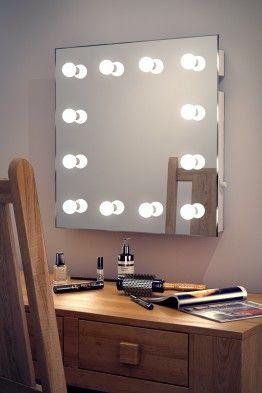 Miroirs Hollywood IP44 à Montage Mural, avec Interrupteur Variateur de Lumière