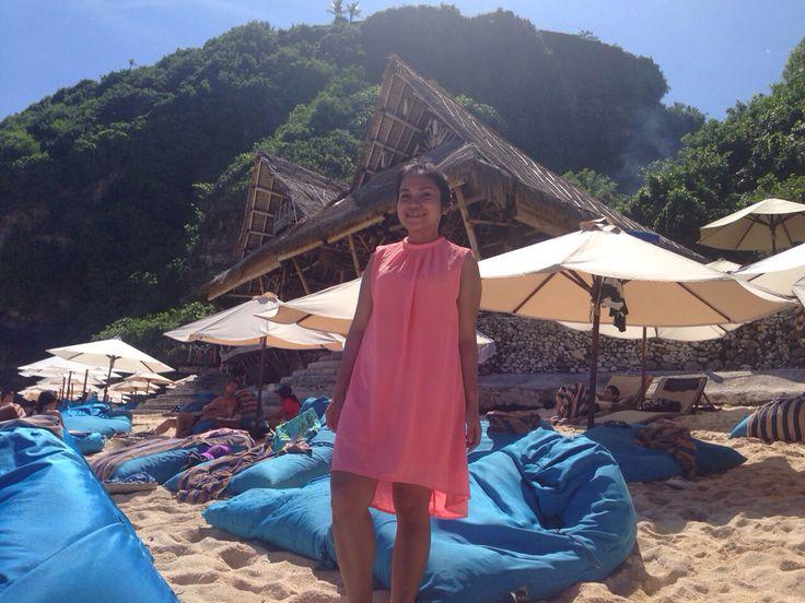 Finn's beach club.. You can stay here all day with IDR 250 for min purhase of food and beverage (include towel and water sport)  ▶️Uluwatu › Semara Luxury Villa Resort, Jl. Pantai Selatan Gau, Uluwatu, Bali