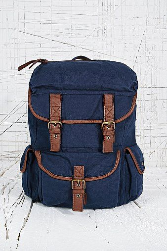 Around the World Backpack in Navy