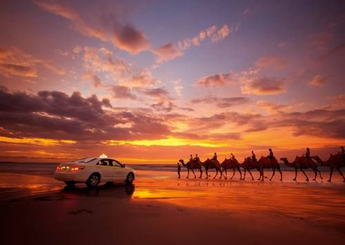 Go to the Cable Beach in Ausrialia