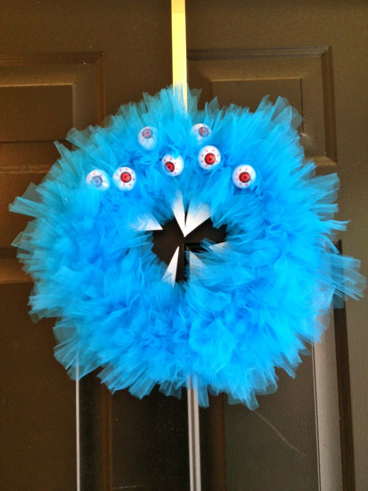 RAWR! A Scary Monster Halloween Wreath
